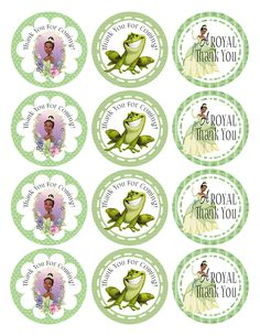 Princess And The Frog Snack And Party Favor Idea For A Charming Birthday Party Prince Birthday Theme, Frog Birthday Party, Disney Princess Birthday, Birthday Tags, Ballerina Birthday, Princesa Tiana, Frog Baby Showers, Mickey 1st Birthdays, Hello Kitty Cupcakes