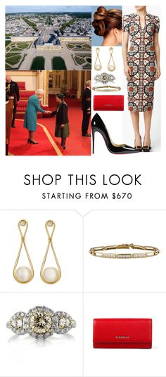 """""""Hosting audience and investiture at Versailles"""" by otma-cc ❤ liked on Polyvore featuring Alexander McQueen, Antonio Bernardo, Tiffany & Co., Mark Broumand, Givenchy and Christian Louboutin"""