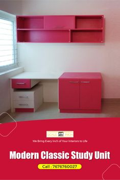 Offer a dedicated study space for your kid with this absolutely stunning study table. Study Space, Apartment Interior Design, Table Desk, Best Interior, Cool Suits, Modern Classic, Absolutely Stunning, Kid, Home