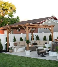 When all is finished, you can start to create a pergola, so it's prepared to delight in summer. A pergola may be an effortlessly stylish method to entertain and revel in your outdoor space without sacrificing your comfort or price… Continue Reading → Patio Pergola, Small Backyard Patio, Pergola Design, Backyard Seating, Backyard Patio Designs, Pergola Kits, Diy Patio, Deck Design, Backyard Storage