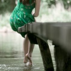 Peaceful, serene moment in the outdoors feeling the cool water on your bare feet~SRG