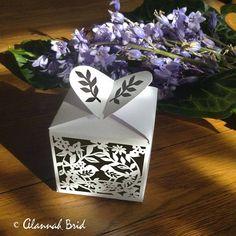 Wedding SVG, Instant Download, Box Template, love bird box, die cutting machine,  3d svg, box svg, svg files, box papercut art, box template