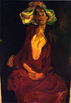 chaïm soutine(1894-1943), the large hat, c. 1923-24. oil on canvas, 93 x 65.1 cm. private collection http://www.the-athenaeum.org/art/detail.php?ID=56668