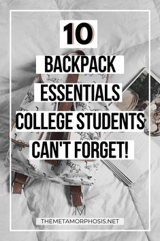 Ready to start your back to school shopping? Here are 10 college backpack essentials students can't forget! College Freshman Tips, College Life Hacks, College List, College School Supplies, College Guys, Scholarships For College, College Students, College Survival Guide, Survival Tips