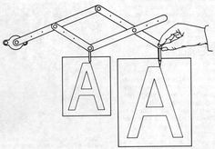 Home Made Pantograph Reducer or Enlarger of drawings