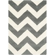 Safavieh Chatham Collection CHT715D Handmade Dark Grey and Ivory Wool Area Rug, 2 feet by 3 feet (2′ x 3′) #handmade The Chatham Collection is the perfect blend of modern class and timeless elegance. These rugs bring traditional sophistication to your home. These rugs feature 100% Premium Wool, hand tufted into elegant Moroccan designs, perfect for your décor. These rugs feature a contemporary design and dense, thick pile highlight inspired by Moroccan patterns with today's updated c..