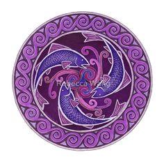 Purple Fish Spiral by Rebecca Wang