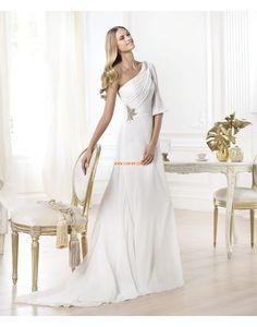 Frühling 2014 Chiffon Reißverschluss Brautkleider 2014