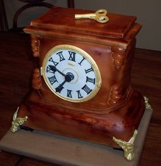 A clock cake for my grandfather