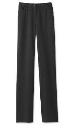Washable Brushed Twill L-pocket Pants / Washable Flannel L-pocket Pants, Black, 16 Orvis. $49.00