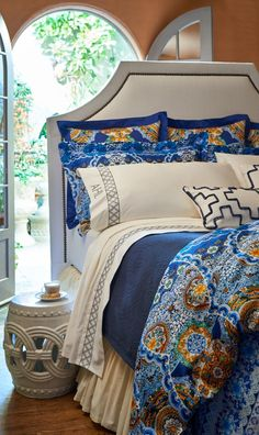 Bedding like our Sicilia Blu Collection is more than just beautiful fabric; it's an expression of the artists who create it.