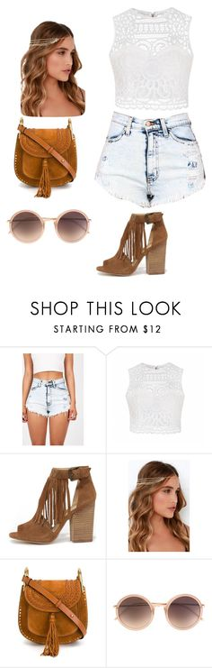 Music Festival by kerry-olmstead on Polyvore featuring Ally Fashion, Chinese Laundry, Chloé, Linda Farrow and LULUS