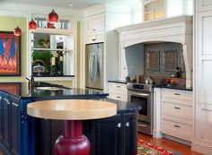 Beautiful Classic Kitchen Design in Colorful Decoration Get Latest Designs & Decor Ideas for your Home at http://www.urbanhomez.com/decor Find Top Furniture Suppliers for your Bedroom & Home at http://www.urbanhomez.com/construction/household_furniture Find Top Interior Designers for an awesome looking Modern Dining Room  at http://www.urbanhomez.com/construction/interior_designer Find Top Architects at http://www.urbanhomez.com/construction/architects