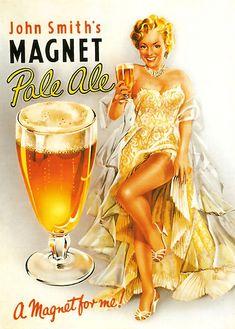 Vintage Beer Poster ad -Magnet pale ale