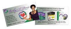 business card design for professional speaker Beck A. Business Card Design, Business Cards, Leadership, Graphic Design, Visit Cards, Carte De Visite, Visual Communication