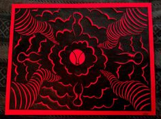 2015 Intermediate Drawing - Citrus College (Prof. Rochelle Botello)  5th assignment, Abstract Art Part 3: Create a new abstract piece by cutting into paper ONLY, using some of the design elements from your previous abstract drawing. Overall, I like how it turned out, with a nice contrast created between the red and black! :-) (click the link to see the process) #arielsartwork #intermediatedrawing #citruscollege #abstract #art #abstractart #design #cutout #black #red #contrast