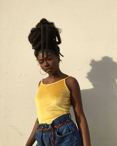 Image about black in Melanin Poppin'💋👊 by Brea✓ Dreads, Black Girl Magic, Black Girls, Curly Hair Styles, Natural Hair Styles, Beautiful Black Girl, Dark Skin Girls, Black Women Hairstyles, Short Hairstyles