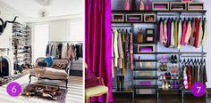 7 inspiring walk-in closets, plus tips for organizing and maximizing your own closet space!