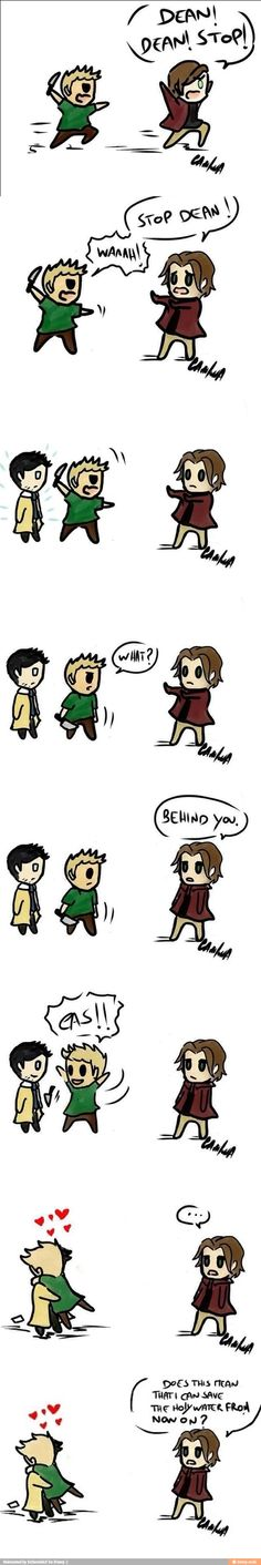 This was the cutest comic and it wasn't for the Destiel. Even though that is awesome.