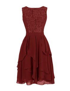 Dresstells Women's Short Lace Prom Dress V Neck Back Bridesmaid Dress Black Size 2
