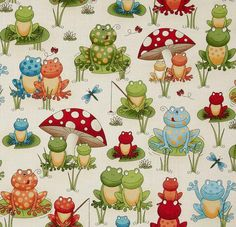 Frogs and Mushrooms Minky Blanket by VRBabiesNKids on Etsy, $36.50