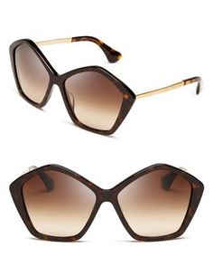 Miu Miu Oversized Layered Star Sunglasses