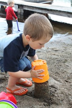 Making Sand Castles, Step Flip the Bucket Over & Pull it Off Summer Memories, Childhood Memories, Summer 2014, Summer Fun, Beach Sand Castles, Seals And Crofts, Ice Play, Beach Activities, Ocean Sounds