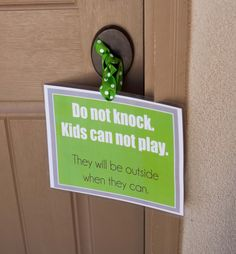 I love this idea but I did something similar once and the neighbor parents got upset with me.