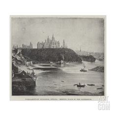 Parliamentary Buildings, Ottawa, Meeting Place of the Conference Giclee Print at Art.com