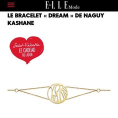 """Thx to ELLE Belgium !!! #stvalentin #prefect #present #lovers  #dreambracelet #crush #elle #uniquejewel #gold #naguykashanejewelry #handmade #followus"