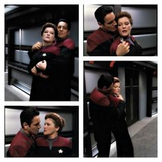 "Chakotay and Janeway, ""Shattered."" This is ""in the past"" Janeway but she's cool with Chakotay kidnapping her because of her lack of personal space issues."