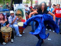 Join us tomorrow at the Museum's Fifth Avenue Plaza for a free, outdoor community Bomba class and drum circle with Alma Moyo! Part of Make Music NY