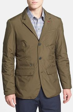 Free shipping and returns on Victorinox Swiss Army® Water Repellent Insulated Travel Blazer (Online Only) at Nordstrom.com. A water-repellent finish and warm insulation offer weather-ready style in a sleek, three-button blazer cut from recycled fabric and detailed with a camo-print lining.
