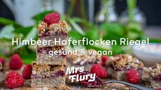 Himbeer Haferflocken Riegel - gesund & vegan Cereal, Oatmeal, Breakfast, Youtube, Brunch, Food, Car, Life, Recipes