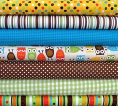 Fat Quarter Bundle of Owls by Anne Kelle by SistersandQuilters, $15.76