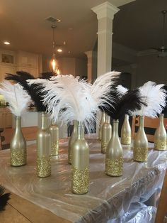 Art Deco, Gatsby Party, roaring centerpieces of the DIY - # . - Art Deco, Gatsby Party, roaring centerpieces of the DIY – # … – B - Roaring Twenties Party, Roaring 20s Birthday Party, Great Gatsby Themed Party, Roaring 20s Theme, Roaring 20s Wedding, Great Gatsby Wedding, 1920s Party Themes, Wedding Themes, 1920s Wedding