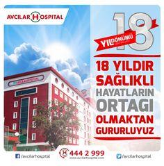 Avcılar Hospital 18 Yaşında !  18 yıl önce kapılarını hizmete açan hastanemiz bu gün 18. Yaşını kutluyor.Sağlık ve başarı dolu nice yıllar birlikte olmayı diliyoruz.  #avcilarhospital18yasinda #avcilarhospitalyıldönümü #yıldönümü #avcılarhospital #sagliklanicemutluyillara #saglik #istanbul #avcilar