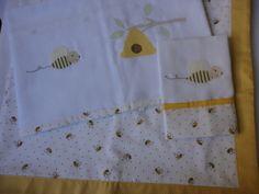 Enxoval de bebe - manta com babeiro e fralda de ombro