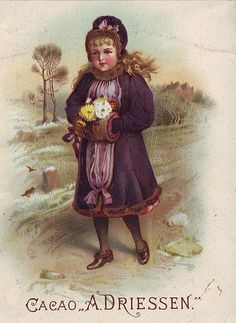 CACAO DRIESSEN GIRL WITH HANDS IN A MUFF CARRYING POSY OF FLOWERS | Flickr - Photo Sharing!