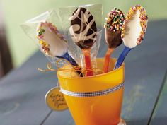 Fun way to add chocolate to your coffee or hot chocolate.