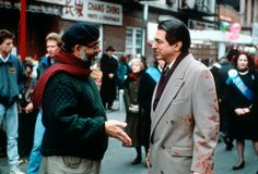 """Francis Ford Coppola and Joe Mantegna discuss a stunt on the set of """"The Godfather Part III"""", Fredo Corleone, The Godfather Part Iii, Joe Mantegna, Mafia Families, Dog Day Afternoon, Dances With Wolves, Robert Duvall, Movie Producers, Francis Ford Coppola"""