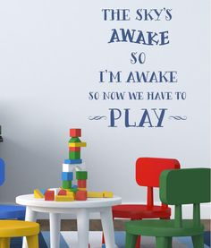 Frozen quote The skys awake Playroom decals by itswritteninvinyl, $22.00