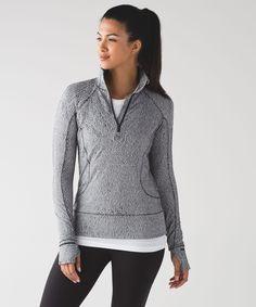 Women's Long Sleeve Running Top - Rush Hour 1/2 Zip - lululemon