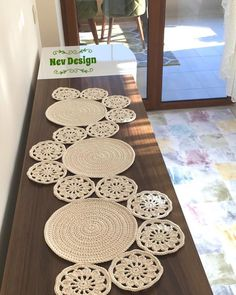 Modern dining room with crochet table runner – Artofit Good evening to all yapt runner s lounge team made the console the middle – Artofit Study In Circles Crochet Motif Table Runner Pattern - Salvabrani This Pin was discovered by Kat Crochet Motifs, Crochet Doilies, Crochet Stitches, Crochet Patterns, Crochet Mandala, Crochet Round, Hand Crochet, Knit Crochet, Crochet Gratis
