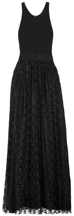 full lenght dress with metallic lace  <3