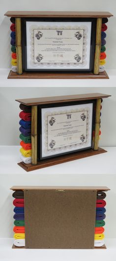 Belt Displays 179768: Bamboo Karate Belt Display With Document Holder -> BUY IT NOW ONLY: $70 on #eBay #displays #bamboo #karate #display #document #holder Taekwondo Belt Display, Martial Arts Belt Display, Taekwondo Belts, Martial Arts Belts, Karate Belts, Karate Belt Holder, Karate Picture, Kempo Karate, Karate Party