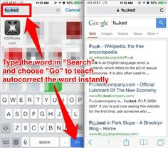 How to easily teach Autocorrect new words and train Autocorrect to stop correcting specific words