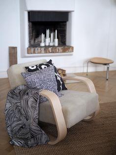 Fireplace in an apt in Helsinki Dream Furniture, Interior Decorating, Interior Design, Dream Apartment, Living Styles, Scandinavian Home, Marimekko, Living Room Interior, Home Collections