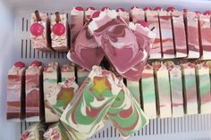 Christmas Soaps Cut