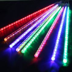 AGPtek 50cm 8 Tube 240 LEDs RGB Multicolor Meteor Shower Rain Lights Waterproof String for Wedding Party Christmas Xmas Decoration Tree * See this great product.  This link participates in Amazon Service LLC Associates Program, a program designed to let participant earn advertising fees by advertising and linking to Amazon.com.